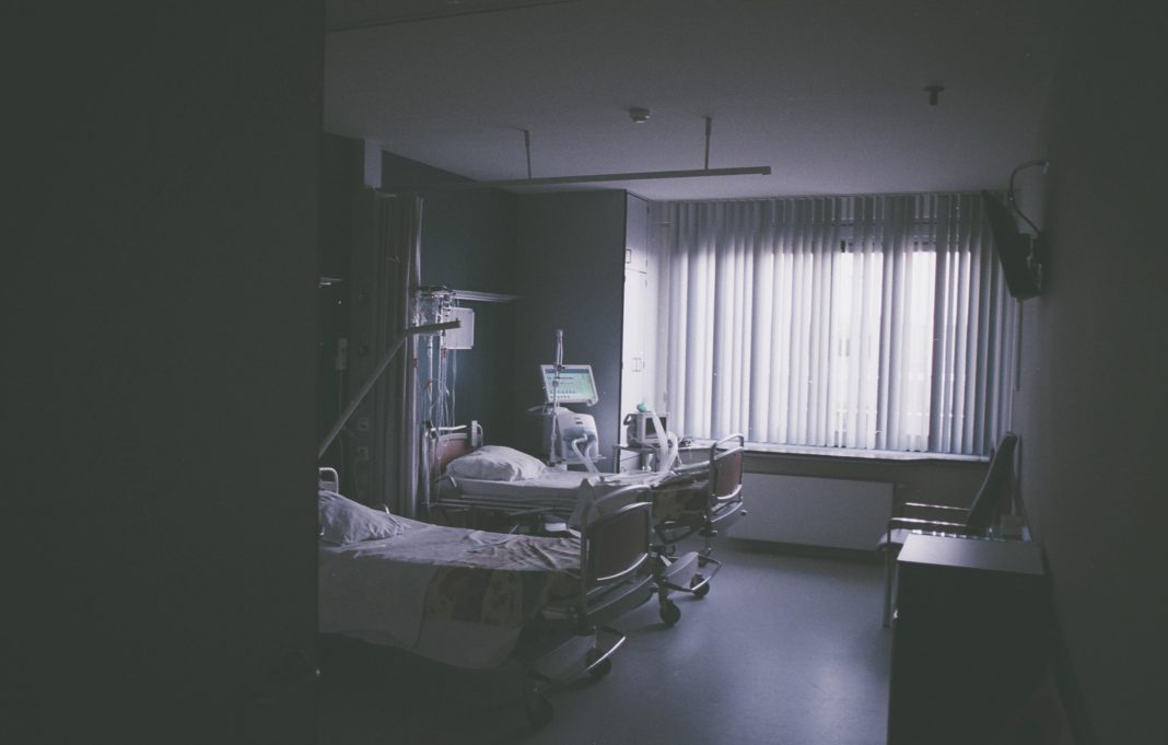 Sad picture of empty hospital room.
